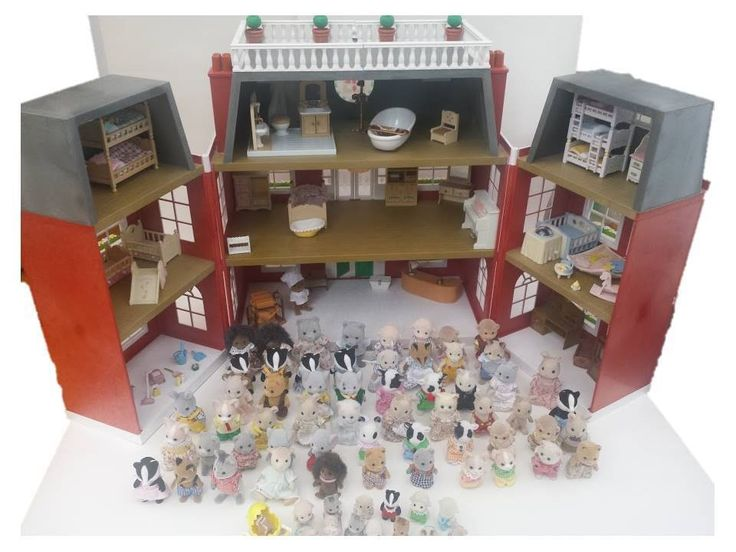 Sylvanian Families Regency Hotel + 72 Animals + Over 200 Furniture + Accessories BUY IT HERE!