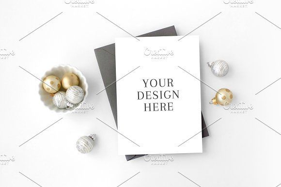 62172da2d New Year s Holiday Card Mockup by The Stationery Stock Shop on   creativemarket