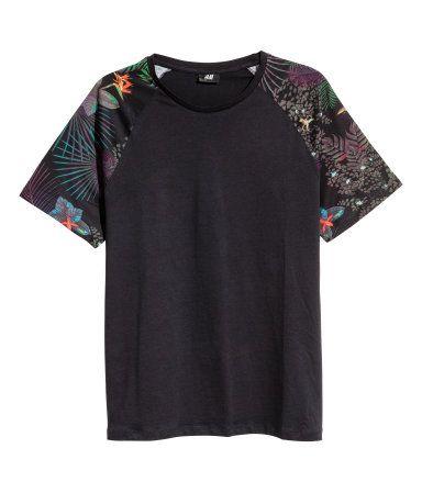 Camiseta | Negro | Hombre | H&M CO