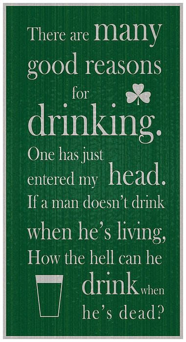 Old Irish Toast Print By Ireland Calling.  Find quality prints and more at the Ireland Calling $tore. Irish Sayings.