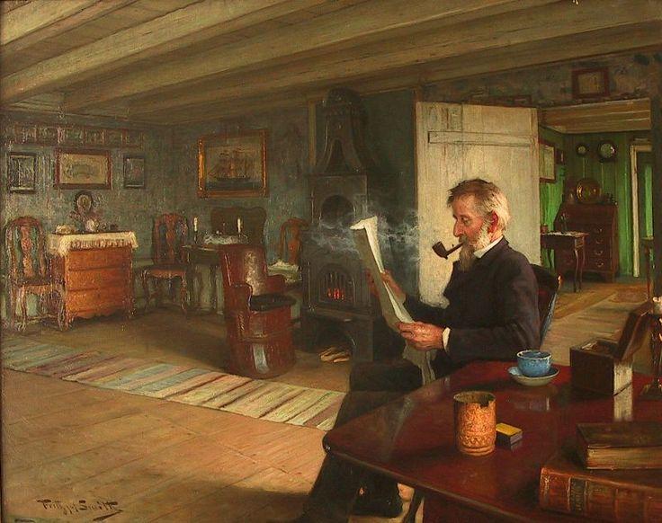 Carl Frithjof Smith (1859-1917): Interiør fra Merdø, 1898