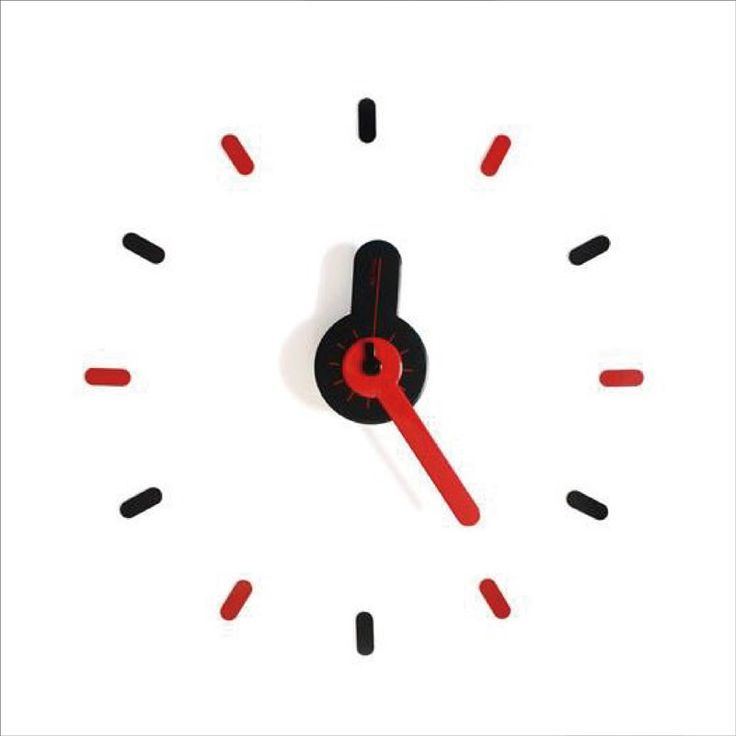 citiesocial – On - Time Wall Clock 牆上貼 - 時計 - Mix Red