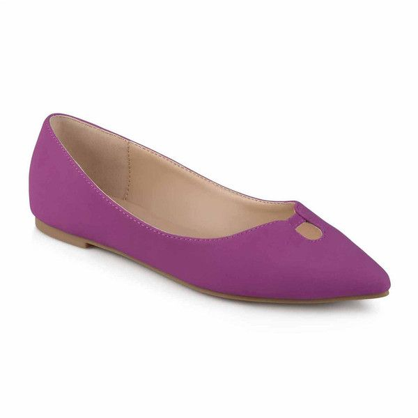 Journee Collection Hildy Womens Ballet Flats - Purple - Size 6 Medium... ($50) ❤ liked on Polyvore featuring shoes, flats, plum shoes, ballet flats, ballerina pumps, purple shoes and ballet shoes flats