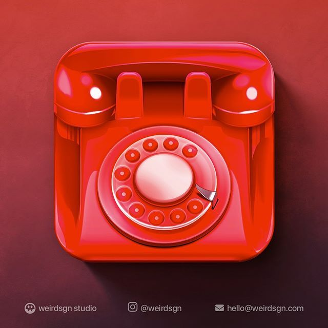Ios Red Old Telephone Icon Design Need Stunning Icons For Your Games Apps Just Pm Or Mail At Hello Weirdsgn Com Weirdsgn Gamed Icon Design Ios Icon Icon