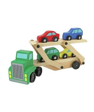 Birthday gift idea: Car Carrier & Cars Wooden Toy Set | http://baby-toy-linwood.blogspot.com