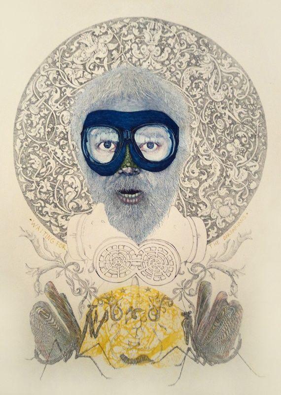 Δημήτρης Τάταρης, Περιμένοντας Τους Βαρβάρους, 2013, μελάνι σε χαρτί,, 65 x 50 εκ., KALFAYAN GALLERIES (Αθήνα-Θεσσαλονίκη)