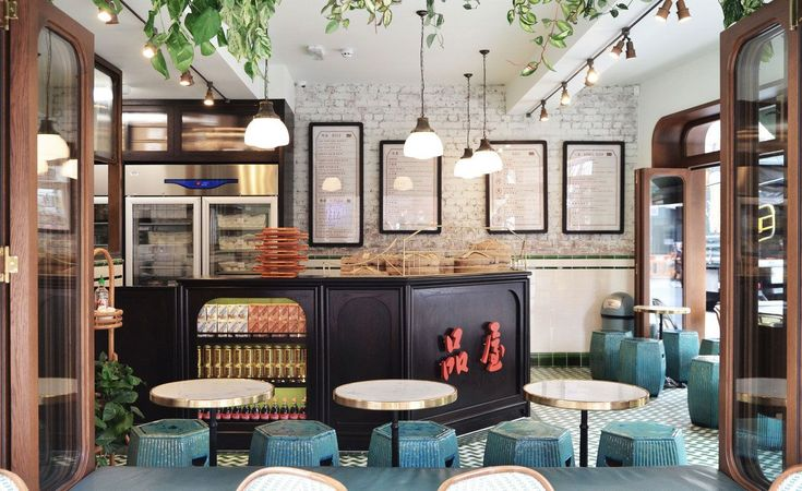 A few months after opening Bun House upstairs, husband and wife team Z He and Alex Peffly have opened Tea House in the basement of the former Moroccan restaurant and hookah joint Maison Toureg in London's Soho quarter.  Both spaces – designed by He's i...