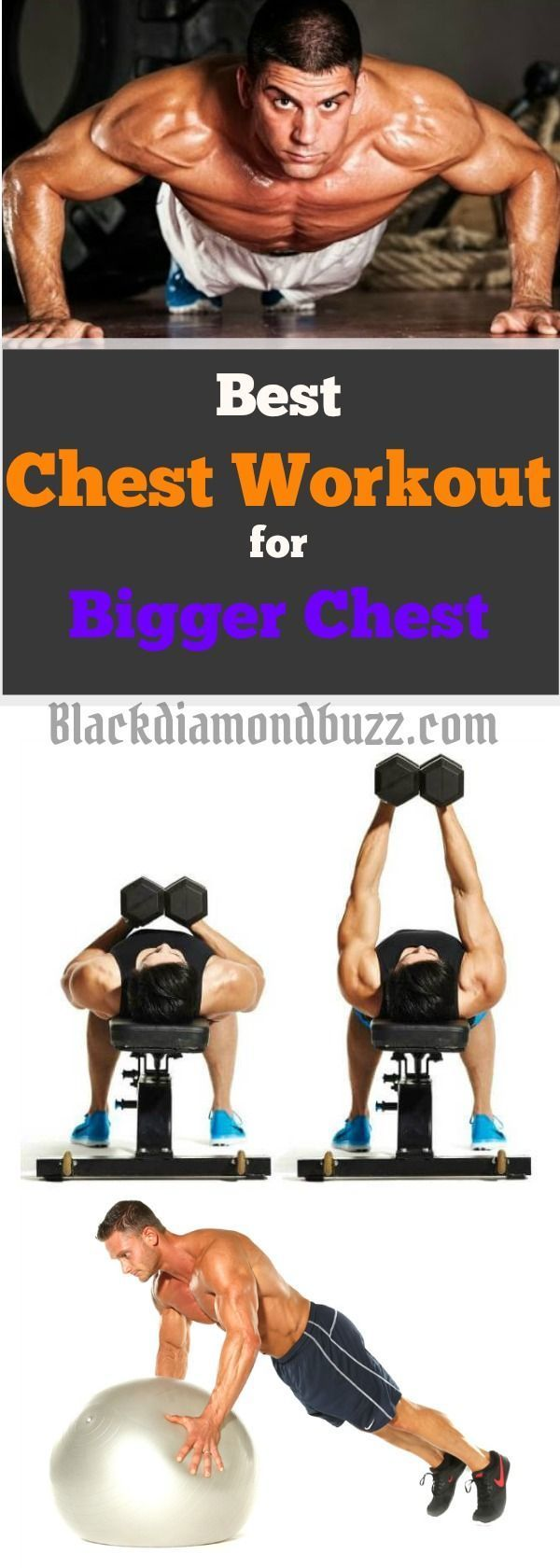 Best Chest workouts at Home With Dumbbell- These chest exercises are for mass, bigger chest and strength.You can do it with or without equipment to tone your arm and upper body. #workout #exercise #health