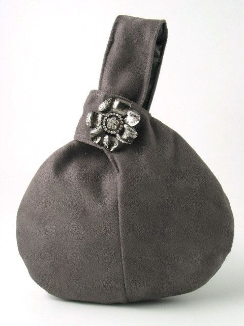 GRAY ultra suede wristlet bag by daphnenen on Etsy, $45.00--adorable, lovely bag!