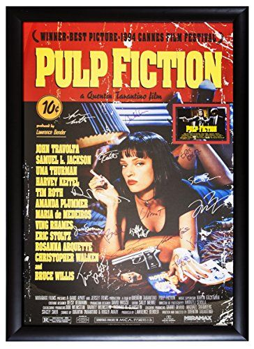 Pulp Fiction - Cast Signed Movie Poster (27 x 41) Autographed Framed with COA @ niftywarehouse.com