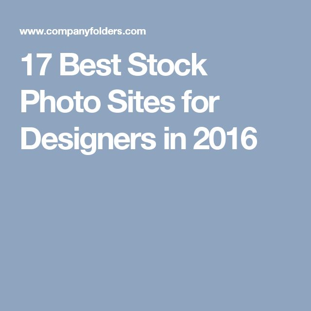 17 Best Stock Photo Sites for Designers in 2016