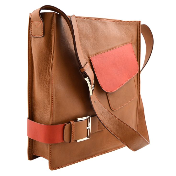 MarteModena M-thrice messenger bag Camel/Orange