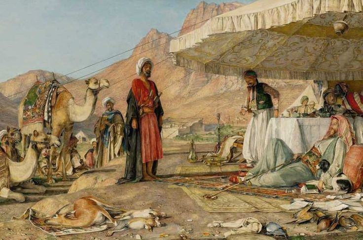 John Frederick Lewis - A Frank Encampment in the Desert of Mount Sinai, 1842على   أبو دلو