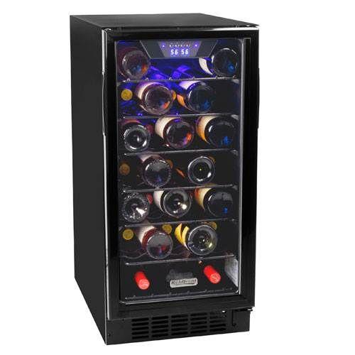 Koldfront 30 Bottle Built-In Single Zone Wine Cooler - BWR300BL