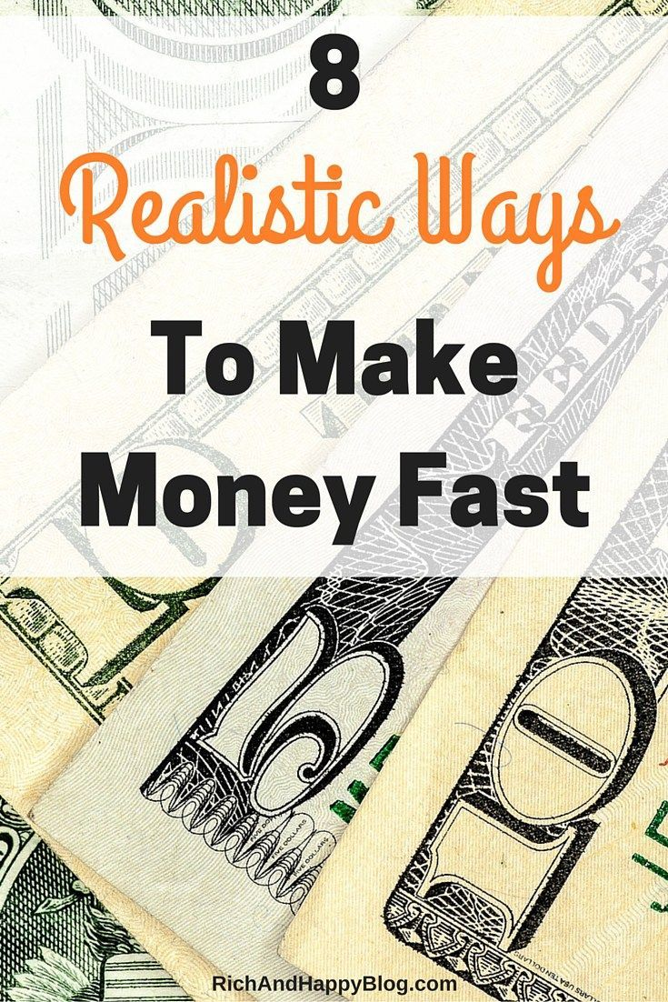 If you need to pay an unexpected bill or make a last-minute purchase, you may find yourself needing to make money fast. Here are eight ways to do so. I've done each one of them myself!