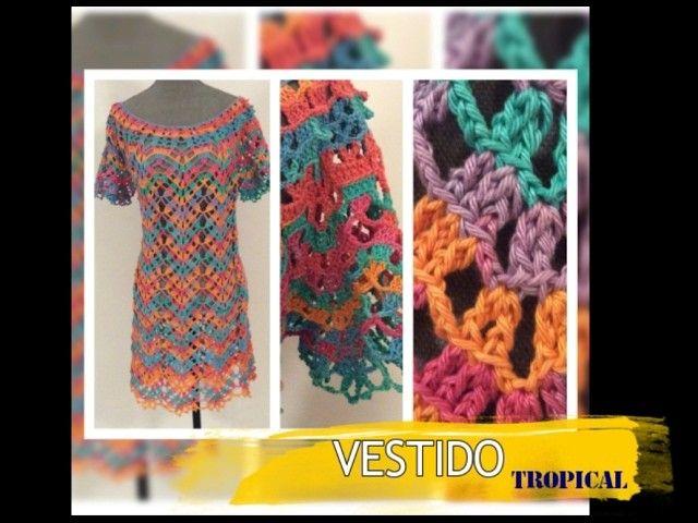 TEJIDO P2 VESTIDO TROPICAL - Crochet Fácil y Rápido - Yo Tejo con LAURA CEPEDA