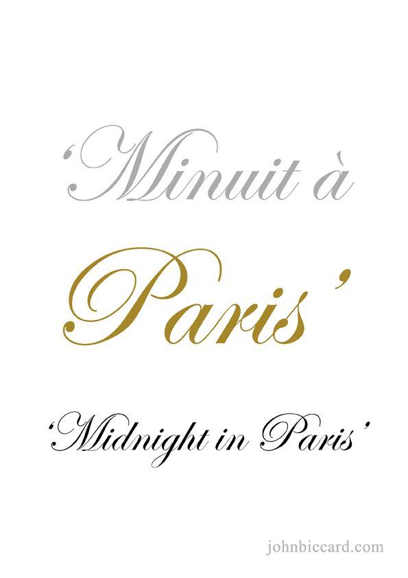 ♔ Midnight in Paris
