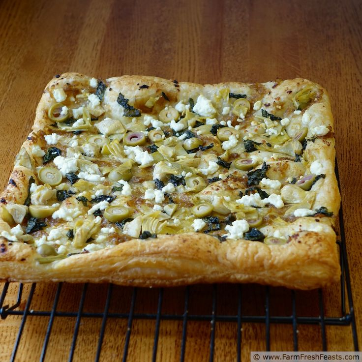 Very Veggie Puff Pastry Pizza | Pizza | Pinterest