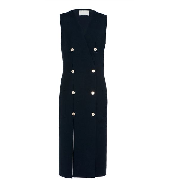 Dion Lee Nautical Dress (€1.945) ❤ liked on Polyvore featuring dresses, navy, dion lee dress, navy blue dress, nautical dresses, navy dresses and double breasted dress