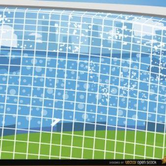 Porterías de fútbol de dibujos animados de fondo