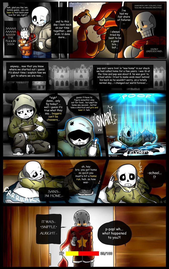 Reminiscence: Undertale Fan Comic Pg. 18 by Smudgeandfrank.deviantart.com on @DeviantArt