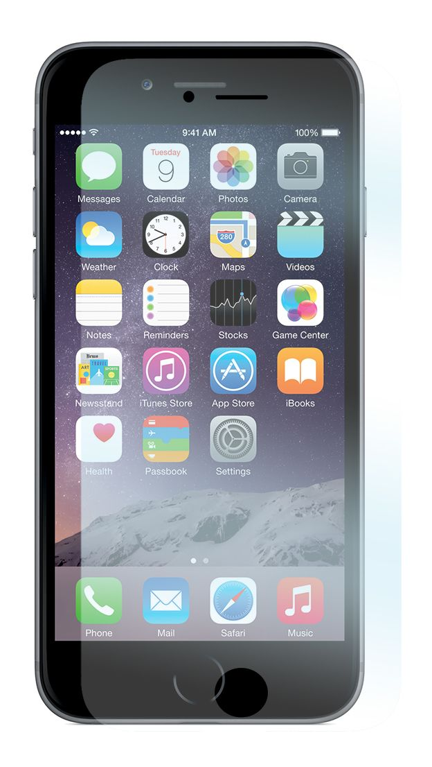 Tempered Glass skyddsfilm för Apple iPhone 6 Plus mobiltelefon.  http://se.innocover.com/product/491/apple-iphone-6-plus-tempered-glass-skarmskydd