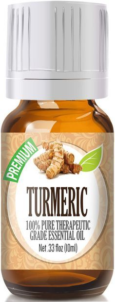 100% Pure Therapeutic Grade Turmeric Essential Oil Comes in an amber glass…