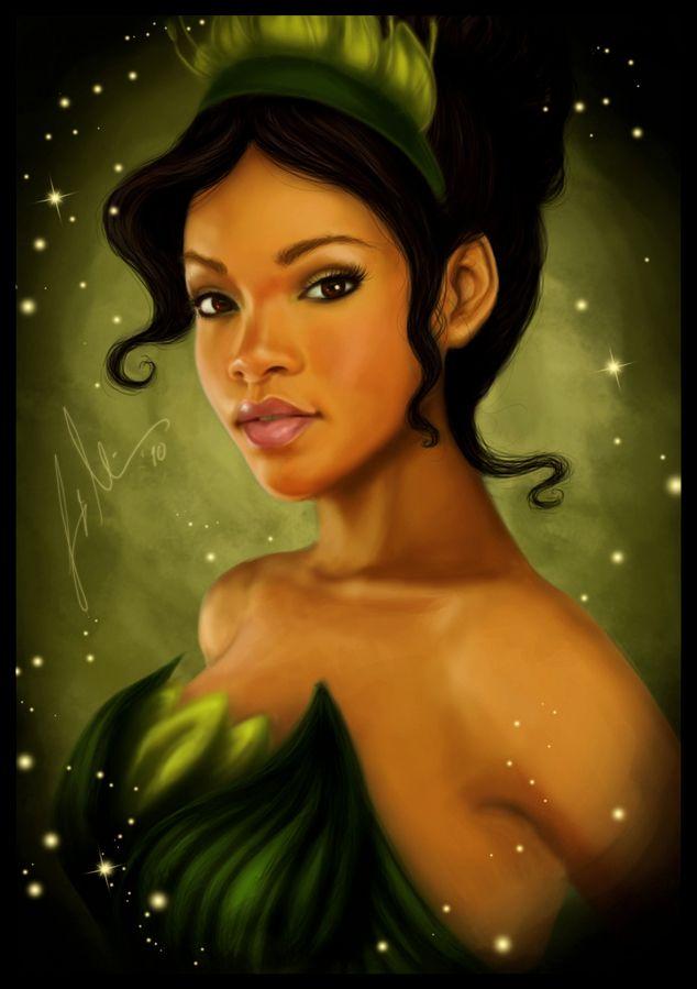 Real Princess - Tiana: Fan Art, Disney Princesses, Princess Tiana, Beautiful, Disney Art, Black Art, Real Princess, Fanart