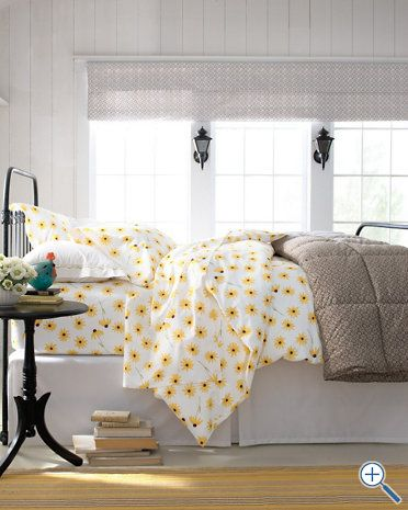 cheery sheets for new yellow & gray bedroom