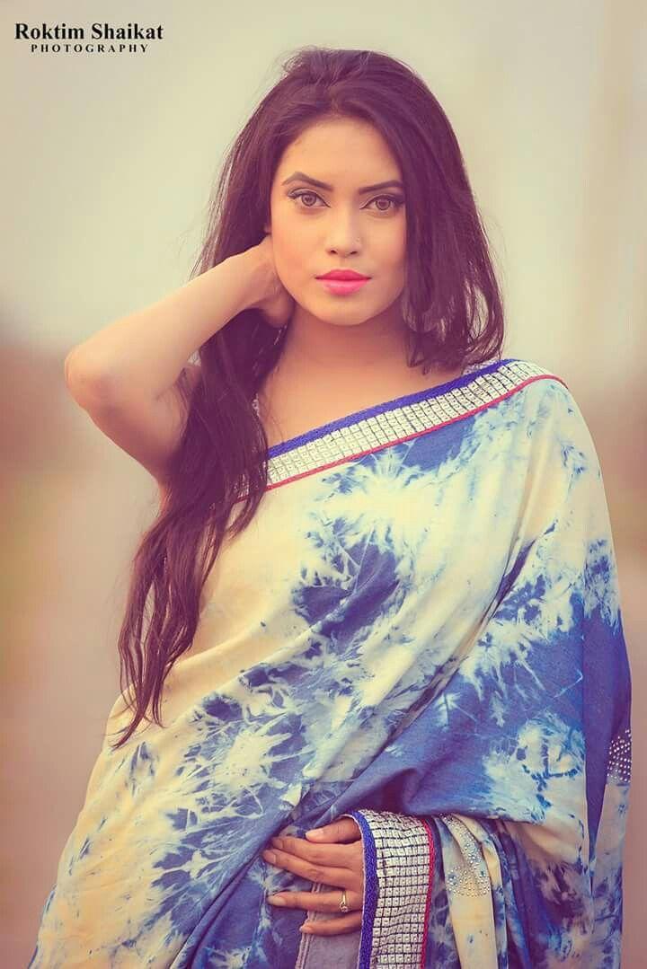 Denim saree by subhra saha