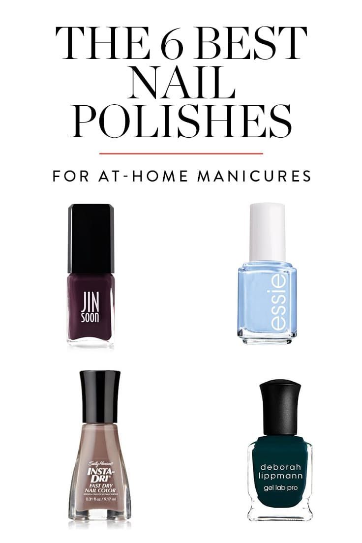 The 6 Best Nail Polishes for At-Home Manicures via @PureWow