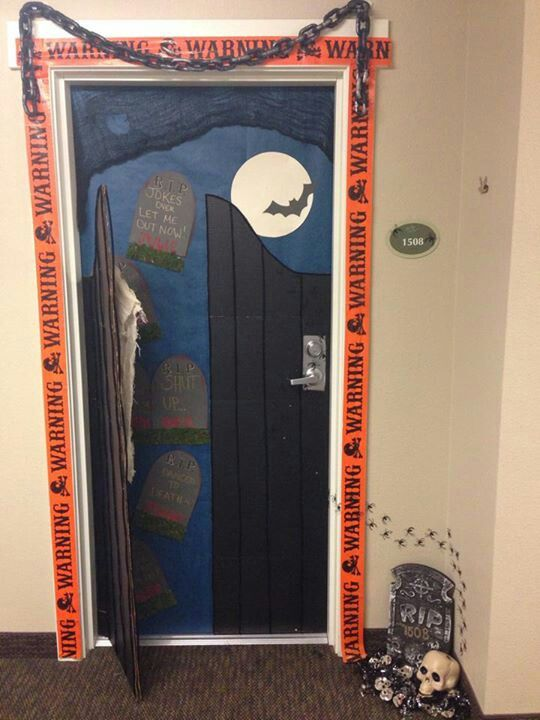 Door Decor Bulletin Boards Halloween Decorations