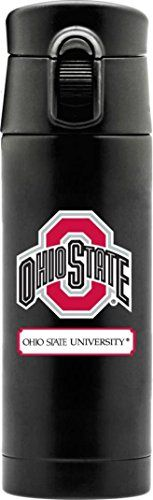 NCAA Ohio State University OSU Buckeyes Large Double Wall Stainless Steel Flask Thermos >>> Click image to review more details.