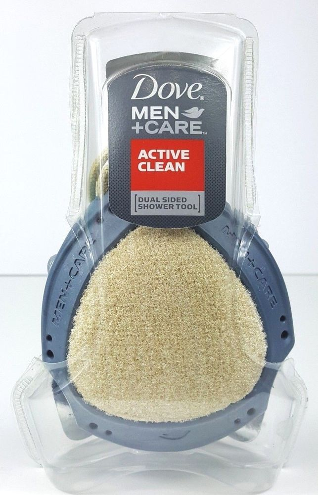 Dove Men+Care Active Clean Dual Sided Shower Tool Mesh Scrub #Dove