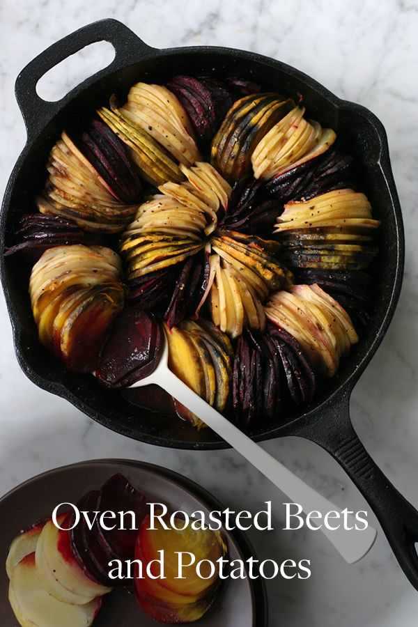 Oven Roasted Beets and Potatoes. Mashed potatoes are great but if you're looking to vary your potato offering this Thanksgiving, try this recipe. It's colorful and flavorful and a nice alternative to your average mash. via @PureWow
