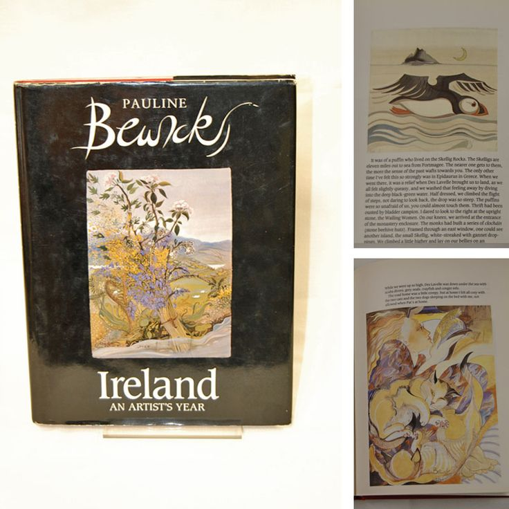 Beautiful 1st edition copy of Pauline Bewick's 'Ireland An Artist's Year' (1990), €35 (RRP €70).   The book includes: Pauline Bewick's sketchbook of writing, sketching and painting throughout a year/ At home in Co. Kerry/ In Dublin for a party at the Joyce Tower/ At a tinker's wedding/ At her exercise classes/ At the dentist/ Recordings of what for her represented the essence of that day.  Oxfam Parliament St. (Dublin): https://www.oxfamireland.org/shop/oxfam-books-parliament-st