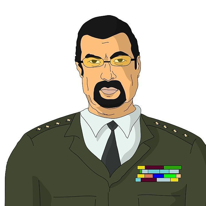 Making a cartoon with Segal want opinions as to which looks better with beard or clean shaven? It's a comedy. #comedy #mma #ufc #stevenseagal