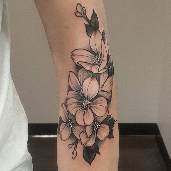 Red 5 Tattoo Blog — Red 5 Tattoo | Virginia Beach, VA - Dogwood flowers done by Martin Buechler