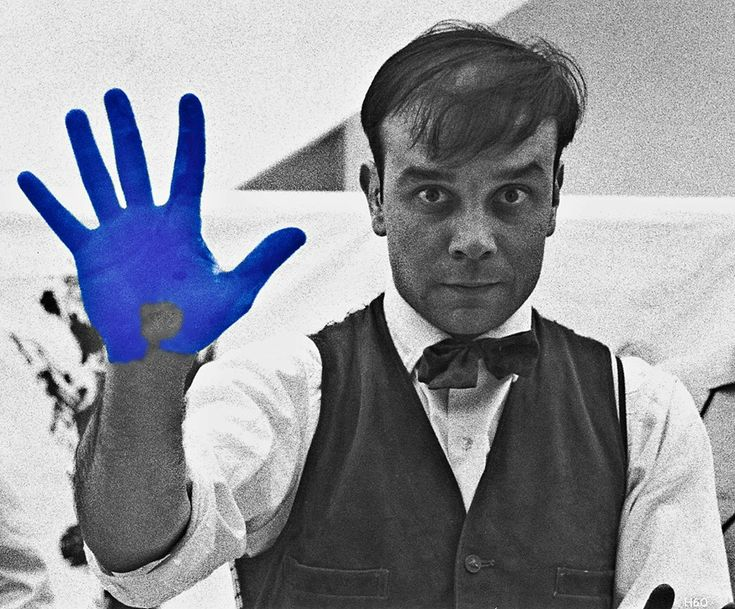 Yves Klein...French artist who liked to paint only in blue