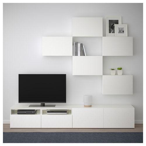 Besta Tv Mobel Kombination Weiss Vassviken Weiss Mobel In 2019 Fliesen Wohnzimmer Wohnzimmer Layouts Und Tv Mobel