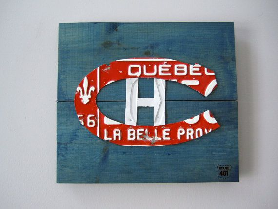 Montreal Canadiens Wall Art Decor - Rustic Handmade License Plate Art Home Decoration