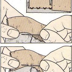 Costura a mano, Puntada de dobladillo plano