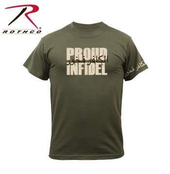 Infidel T-Shirt- OD Green Short Sleeve Tee Shirt
