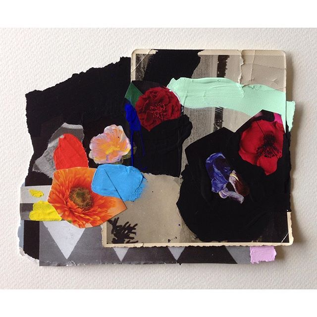 New colour study... #art #painting #abstract #paper #collage #artonpaper #mixedmedia #contemporaryart #ss16 #aw16 #fw16 #ss17 #florals #flowers