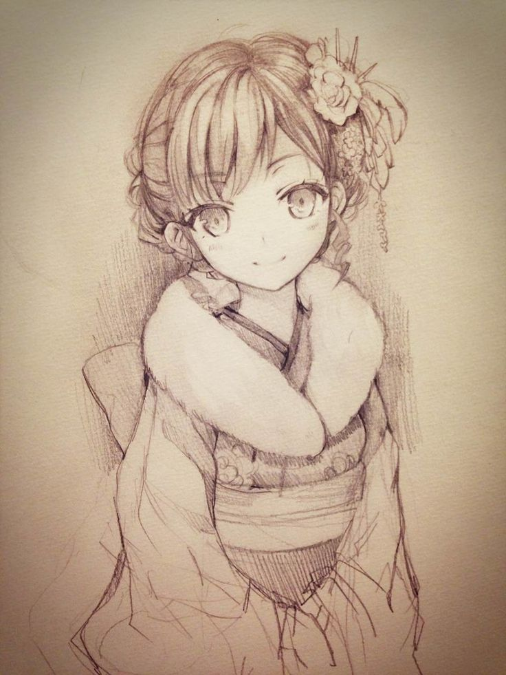 pretty anime drawing