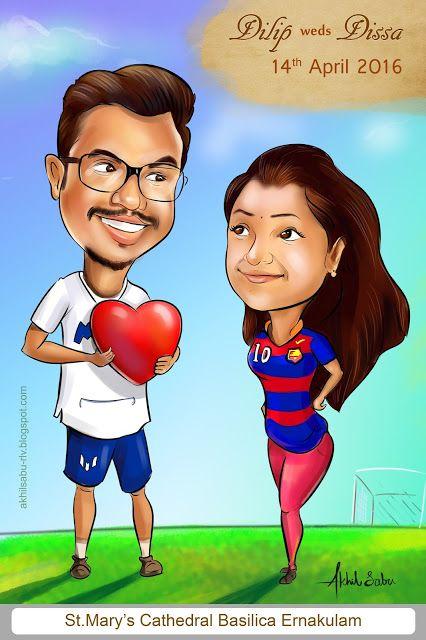 Wedding Caricature India