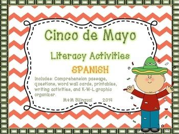 15 best cinco de mayo images on pinterest activities in spanish cinco de mayo literacy activities spanish ccuart Image collections