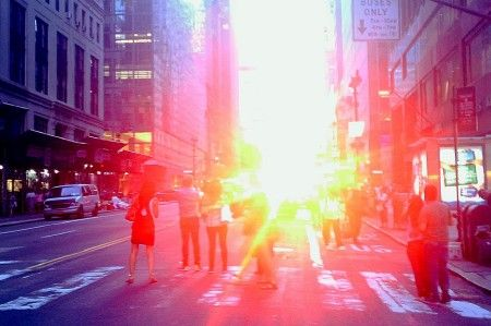 Manhattan solstice – when the sun setting is aligned with the east-west streets. It occurs twice a year, around May 28t and Jul 12th