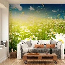 Fototapet - Summer Meadow Full Of Daisies