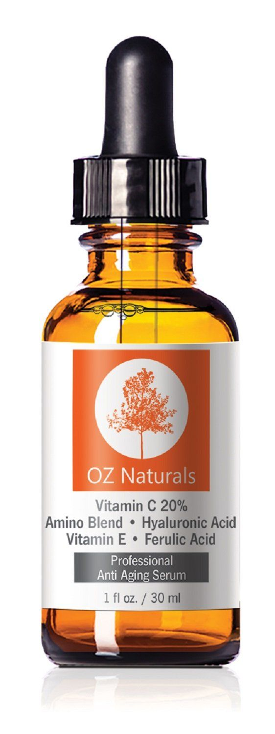 Amazon.com : OZ Naturals - THE BEST Vitamin C Serum For Your Face - Organic Vitamin C + Amino + Hyaluronic Acid Serum- Clinical Strength 20% Vitamin C with Vegan Hyaluronic Acid Leaves Your Skin Radiant & More Youthful By Neutralizing Free Radicals. This Anti Aging Serum Will Finally Give You The Results You've Been Looking For! 1 Ounce : Facial Treatment Products : Beauty